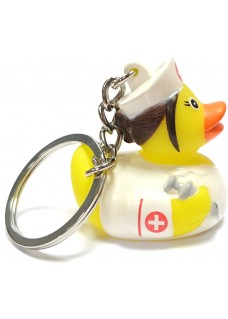 Nurse Rubber Duck Keychain