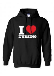 Gildan Hoody I Love Nursing