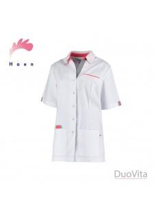 Haen Nurse Uniform Paulien White / Grey Orient Pink