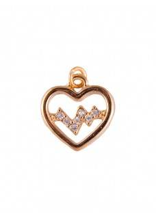 Heartbeat Golden-Pink Pendant (Small)
