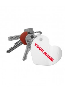 Key Chain Heart Best Nurse Ever with Name Print
