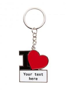 Key Chain I Love Nursingf with Name/Text Print