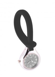 Silicone Hang Watch Black