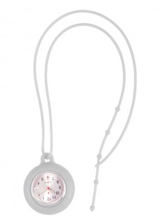 Silicone Lanyard Watch White