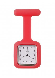 Silicone Square Fob Watch Red