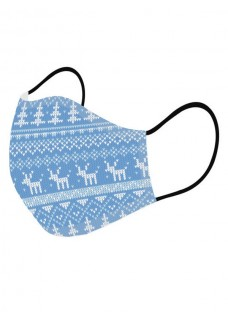 Face Mask Christmas Blue