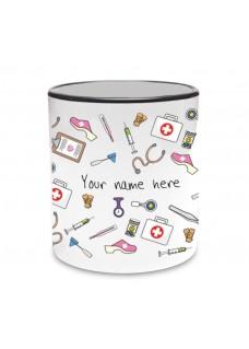 Mug Medical Symbols Black
