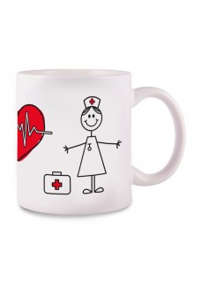 Mug Stick Nurse White