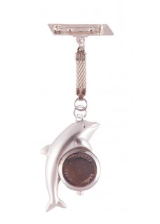Nurses Fob Watch Silver Dolphin