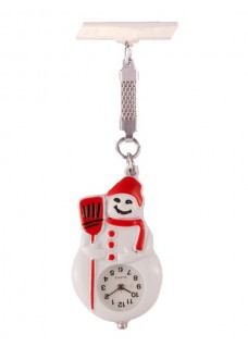 Nurses Fob Watch Snowman