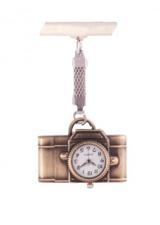 Camera Bronze Fob Watch