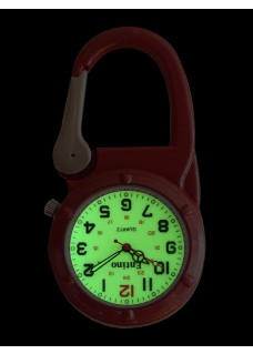 Nurse Clip Watch NOC471 Luminous Orange
