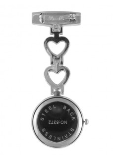 Fob Watch Love Silver