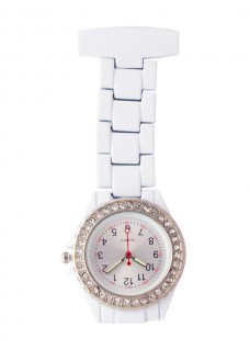 Nurses Fob Watch White