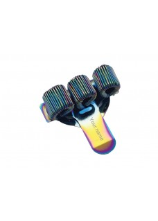 Pocket Penclip Triple Metal Rainbow