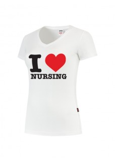 Womens T-Shirt I love Nursing White