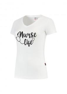 Womens T-Shirt Nurse Life White