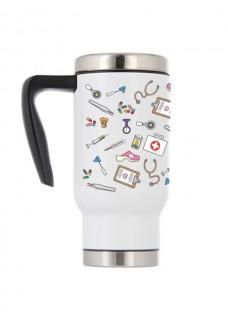 Thermo Travel Mug Medical Symbols