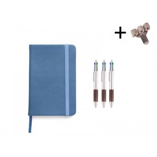 Set Notebook A5 + Pens  Blue