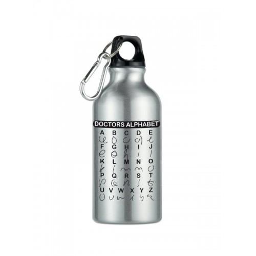 Sport Drink Bottle Doctors Alphabet Silver