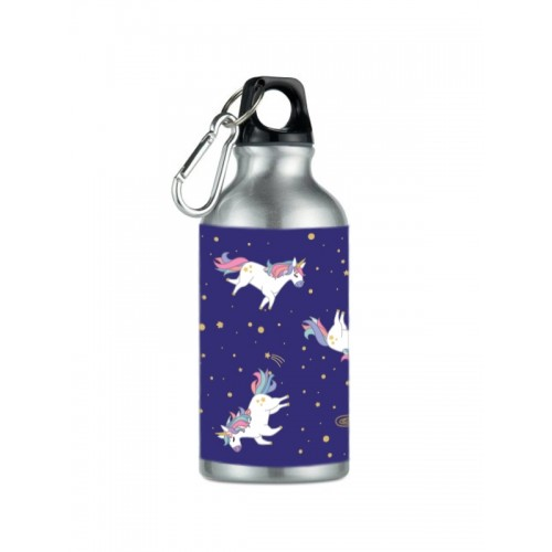 Sport Drink Bottle Unicorn Silver