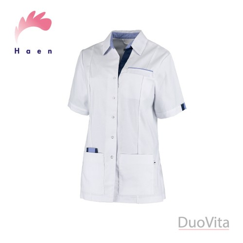 Haen Nurse Uniform Paulien White / Blue Navy Cross