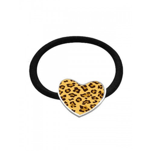 Elastic Hair Band Panther Yellow Heart