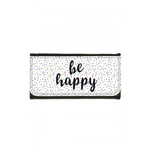Ladies Luxe Wallet Be Happy