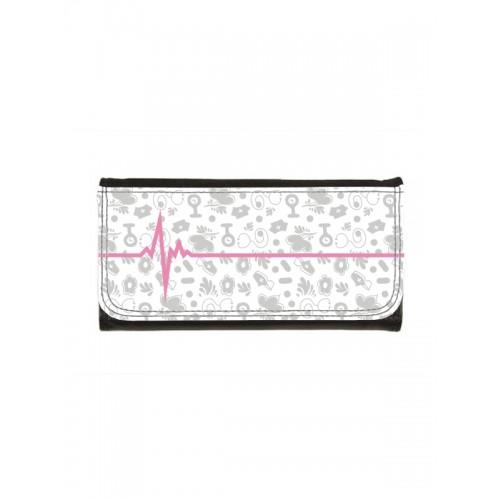 Ladies Luxe Wallet Symbols Grey