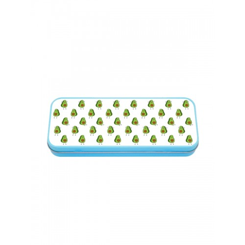 Metal Stationary Case Blue Avocados