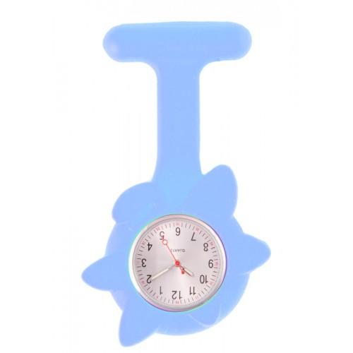 Silicone Spring Flower Fob Watch Blue
