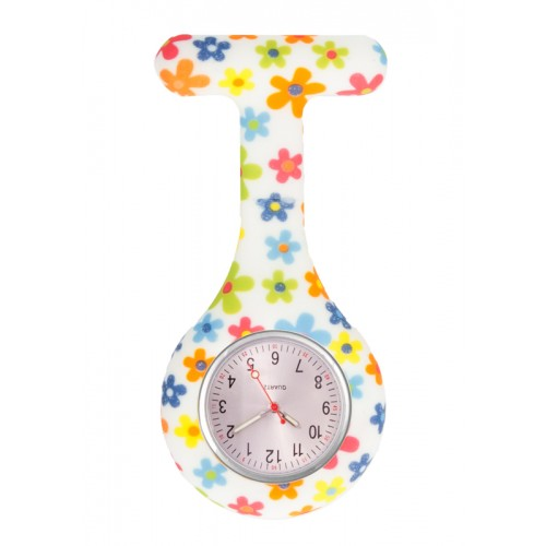 Nurses Fob Watch Little Flowers
