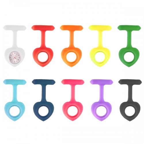 Value Pack Silicone Nurses Fob Watch Heart