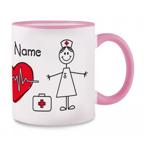 Mug Stick Nurse Pink