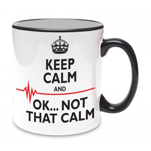 Mug Not That Calm Black