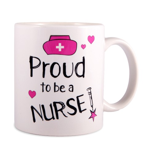 Mug Proud to be a Nurse 2 White