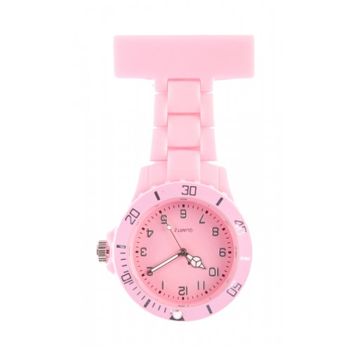 Neon Nurses Fob Watch Pink