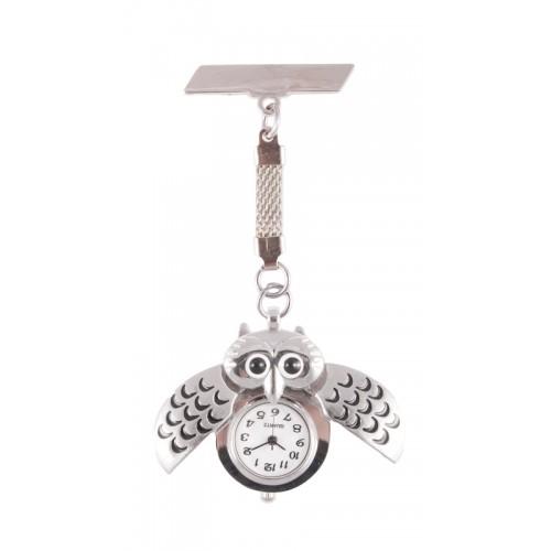 Owl Silver Fob Watch