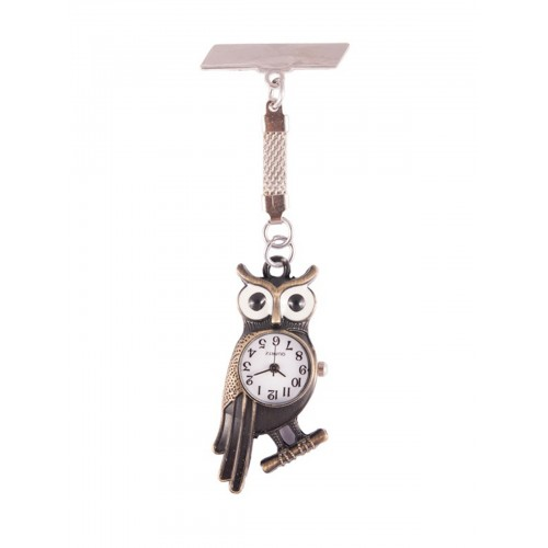 Owl Bronze Fob Watch