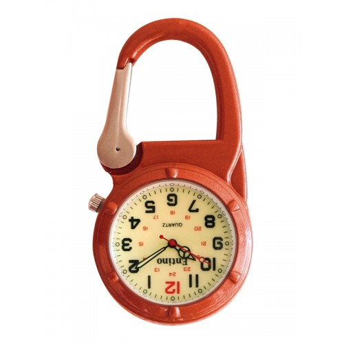 Nurse Clip Watch NOC471 Luminous Orange