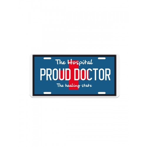 License Plate Proud Doctor