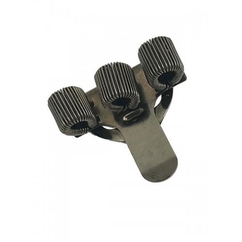 Pocket Penclip Triple Rhodium Black