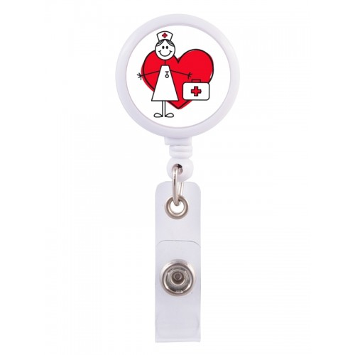 Retracteze ID Holder Stick Nurse