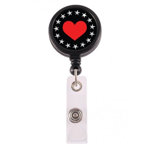 Retracteze ID Holder Heart Bling
