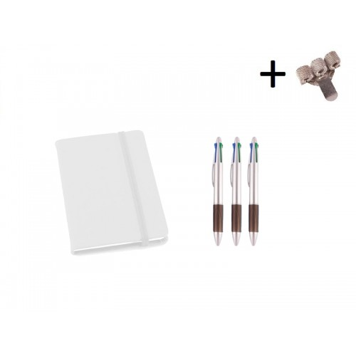 Set Notebook A5 + Pens White