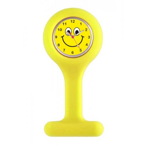 Silicone Nurse Fob Watch Yellow Happy Face